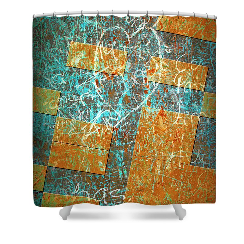 Abstract Shower Curtain featuring the photograph Grunge Background 6 by Carlos Caetano