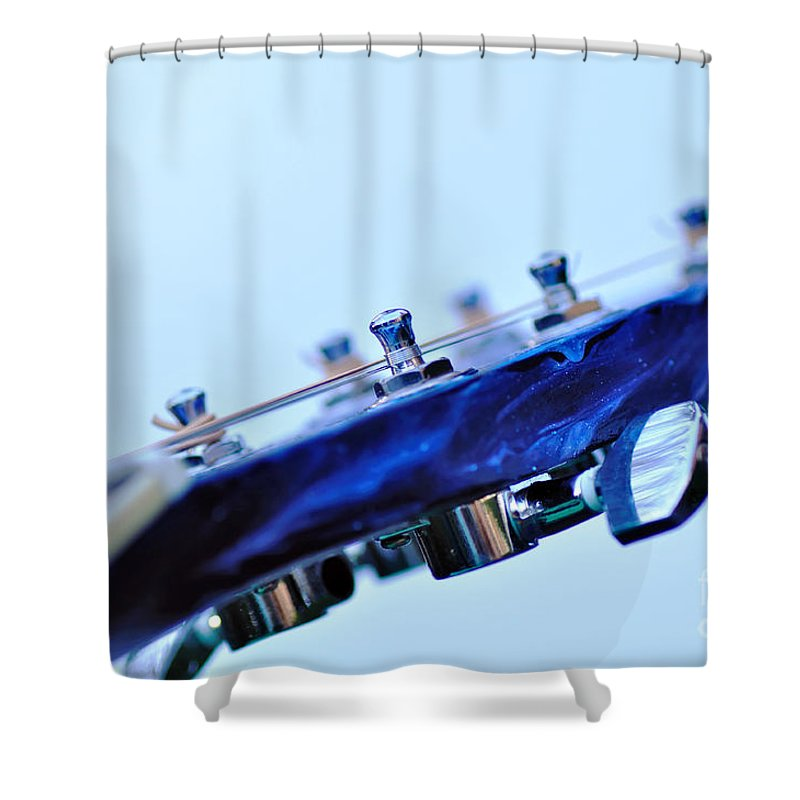 Photography Shower Curtain featuring the photograph Guitar Abstract 5 by Kaye Menner
