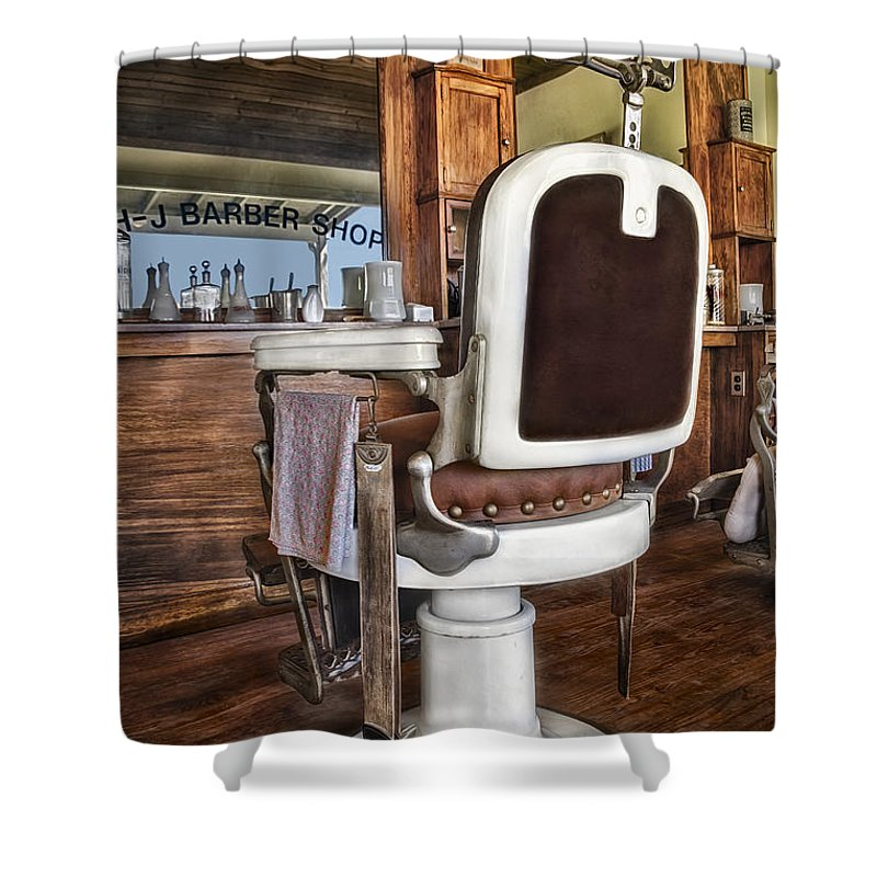 H-j Barber Shop Shower Curtain featuring the photograph H J Barber Shop by Susan Candelario