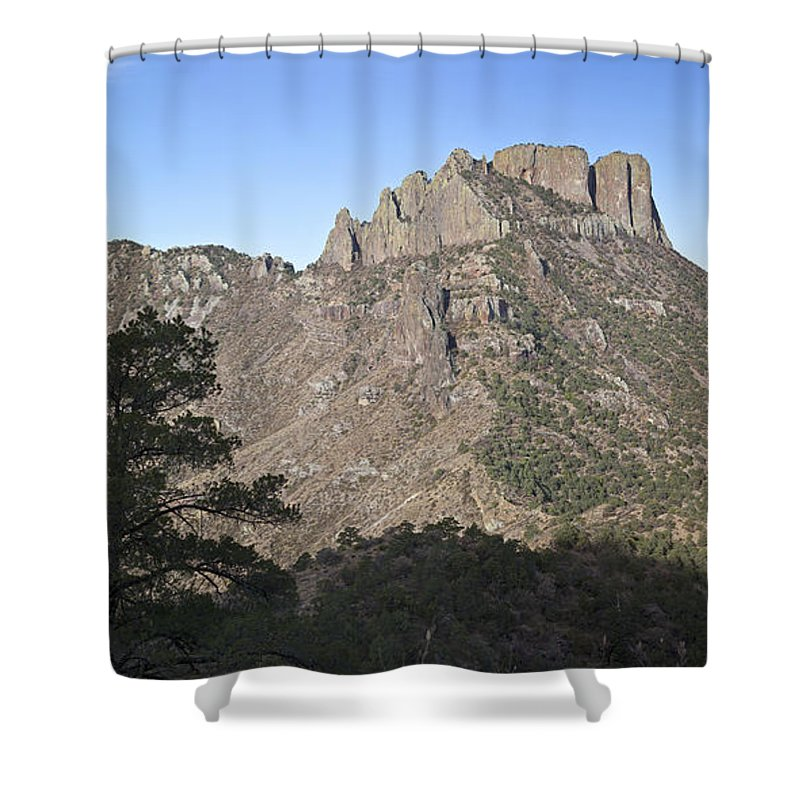 Big Bend National Park Shower Curtain featuring the photograph Habitat Transition by Greg Dimijian