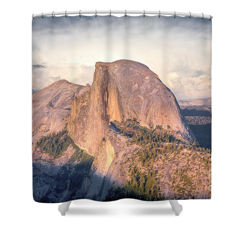 California Shower Curtain featuring the photograph Half Dome Portrait by Susan Cole Kelly