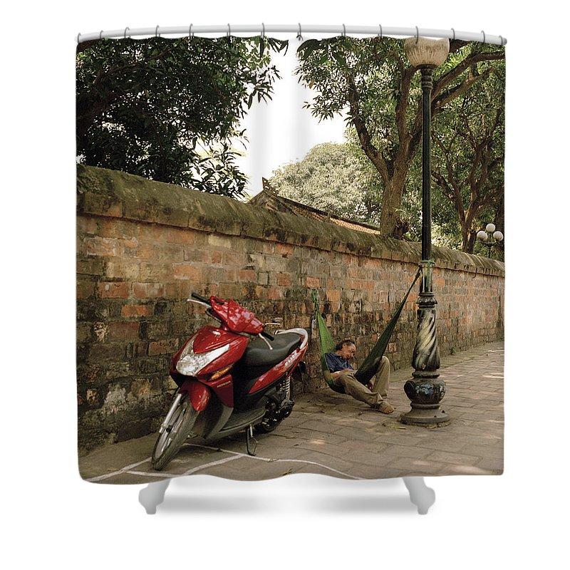 Asia Shower Curtain featuring the photograph Hanoi Hammock by Shaun Higson