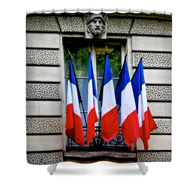 Bastille Day Shower Curtain featuring the photograph Happy Bastille Day by Eric Tressler