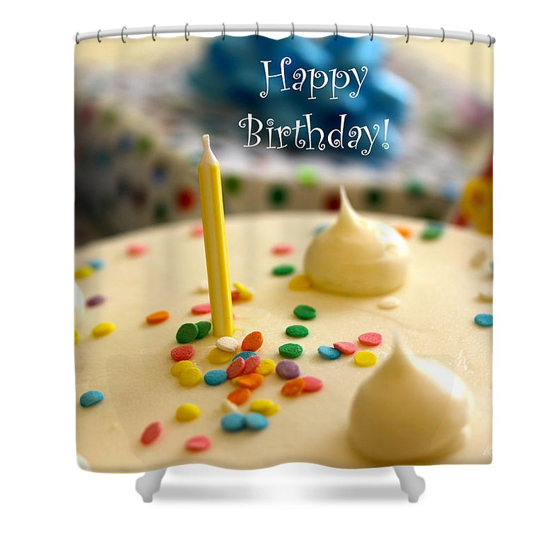 Birthday Shower Curtain featuring the photograph Happy Birthday by Diana Haronis