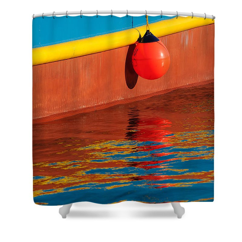 Boat Shower Curtain featuring the photograph Harbor Colors by Bobbie Climer