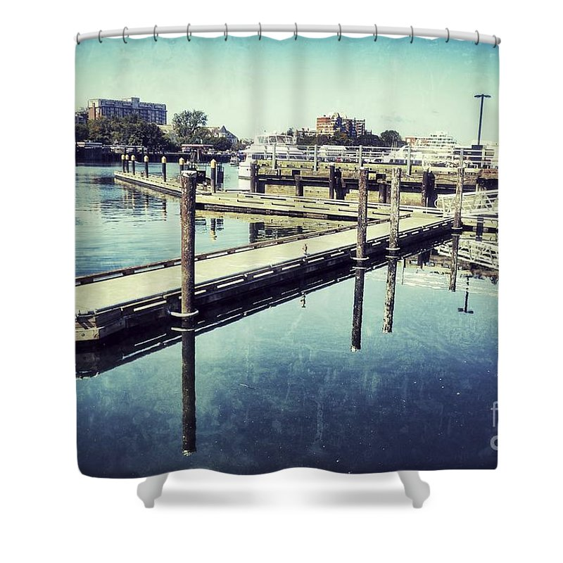 British Columbia Shower Curtain featuring the photograph Harbor Time by Traci Cottingham