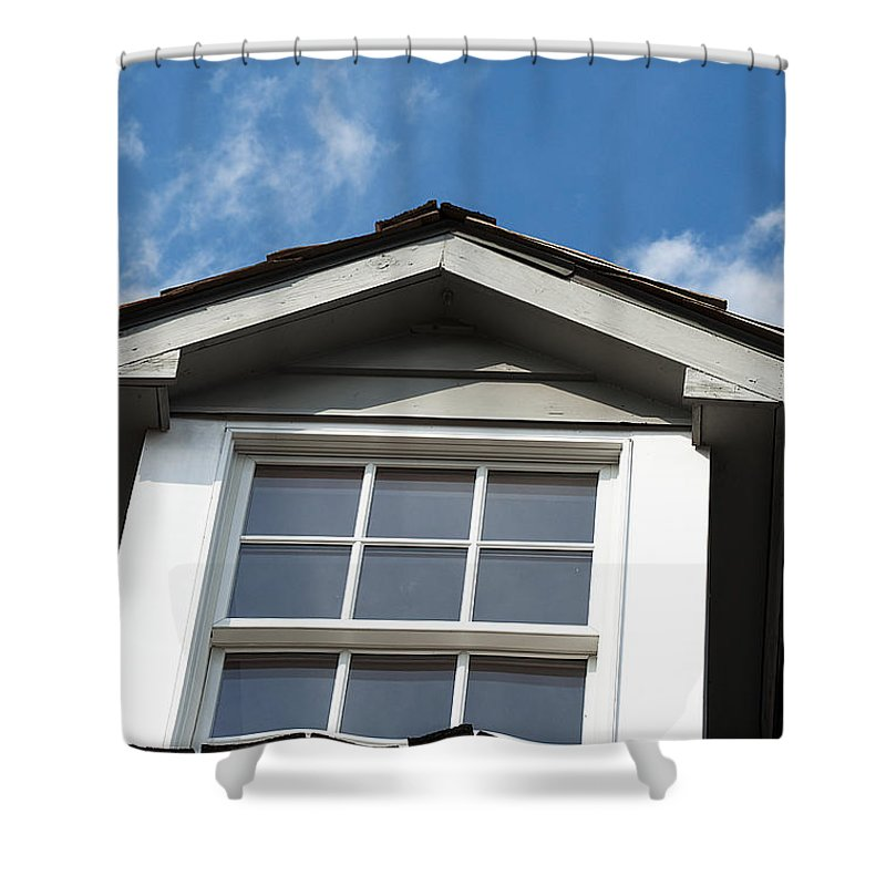 Attic Shower Curtain featuring the photograph Haunted Attic by Kenneth Albin
