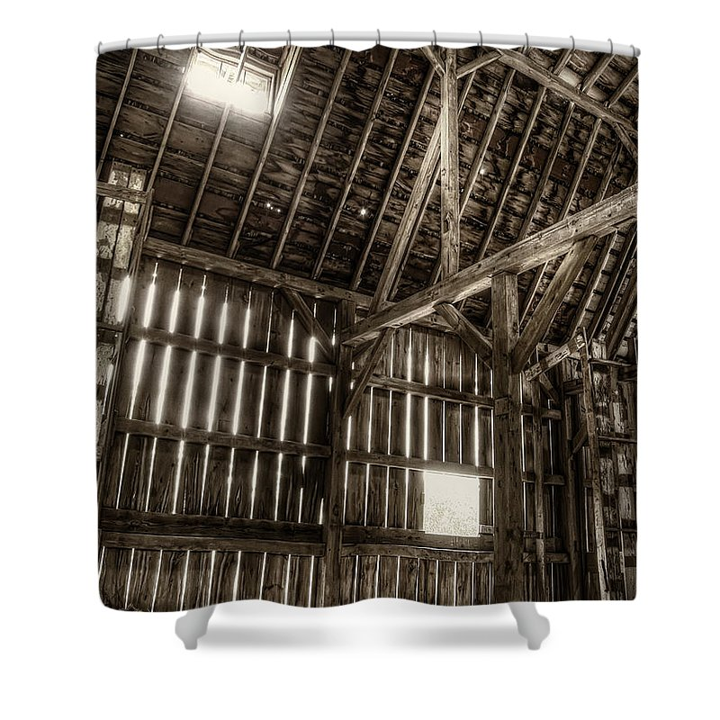 Barn Shower Curtain featuring the photograph Hay Loft by Scott Norris