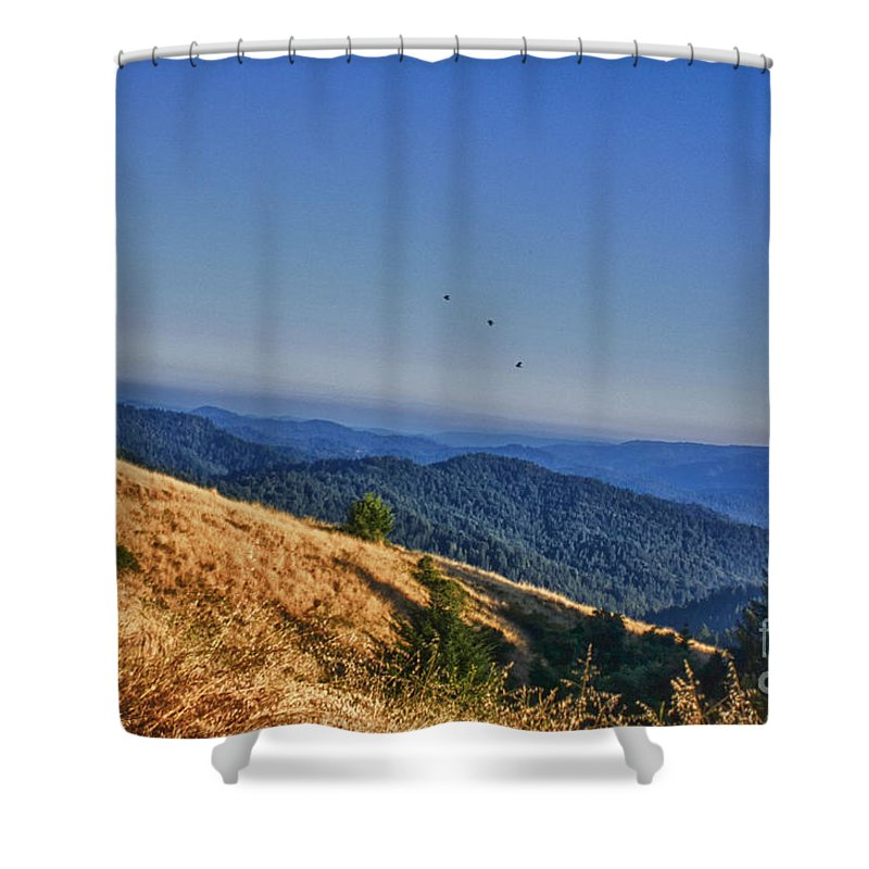 Hdr Shower Curtain featuring the photograph hd 377 hdr - Grasslands by Chris Berry