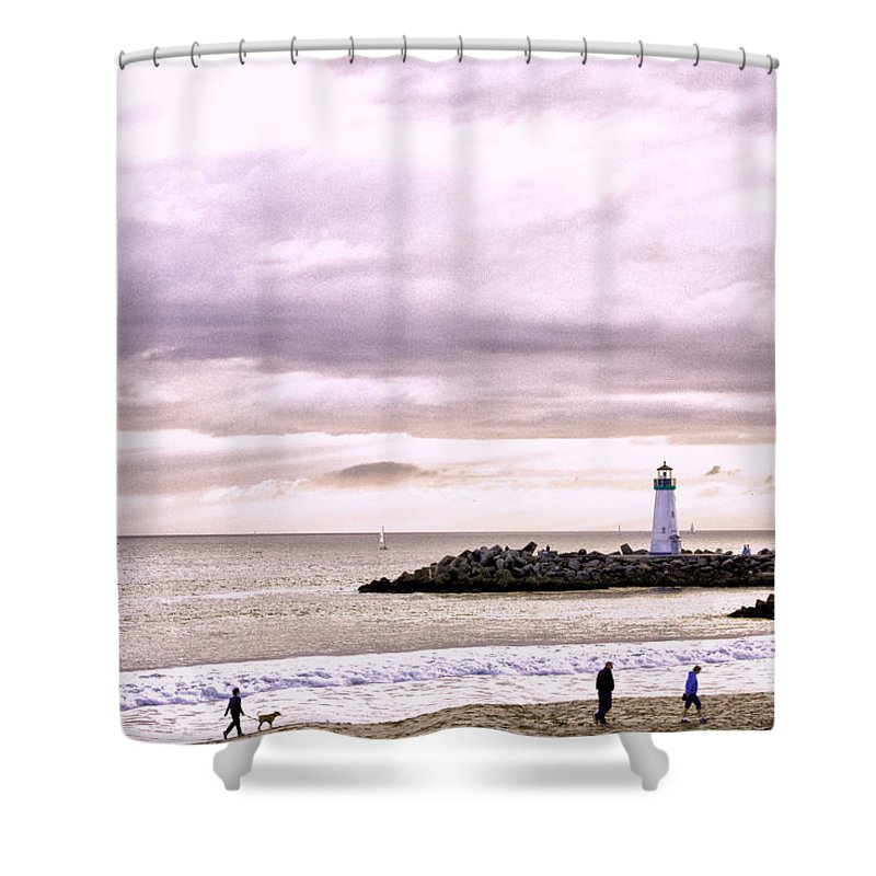 Hdr Shower Curtain featuring the photograph hd 378 hdr - Three People and a Dog by Chris Berry