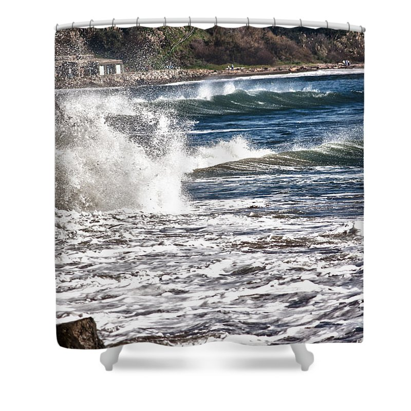 Hdr Shower Curtain featuring the photograph hd 385 hdr - Splash 1 by Chris Berry