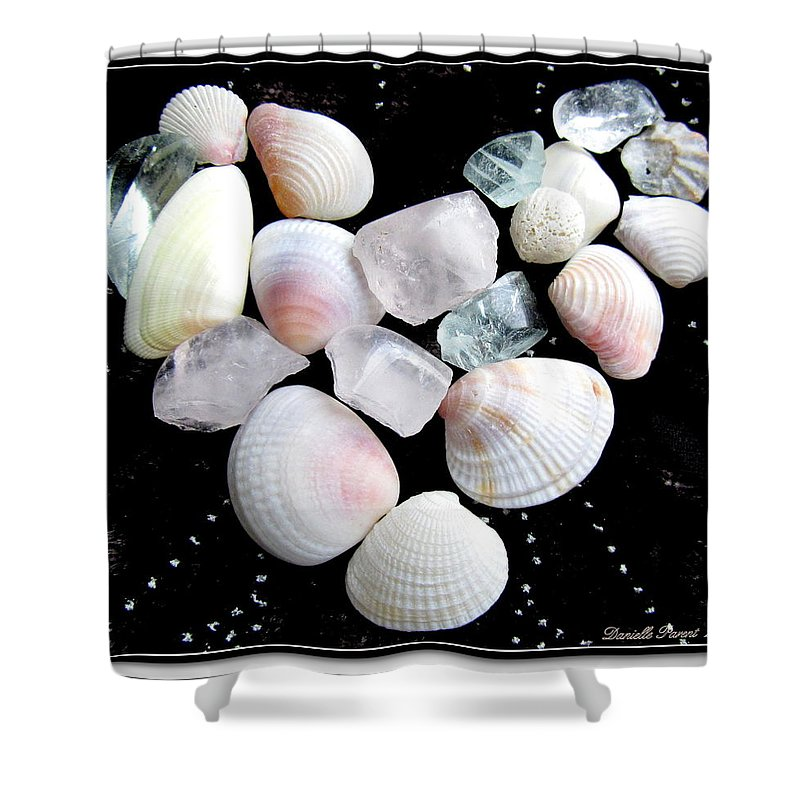 Beach Glass Art Prints Shower Curtain featuring the photograph Heart Of Treasures by Danielle Parent