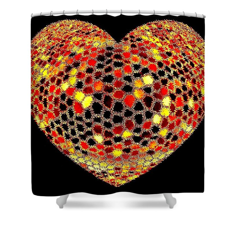 Heart Shower Curtain featuring the digital art Heartline 7 by Will Borden