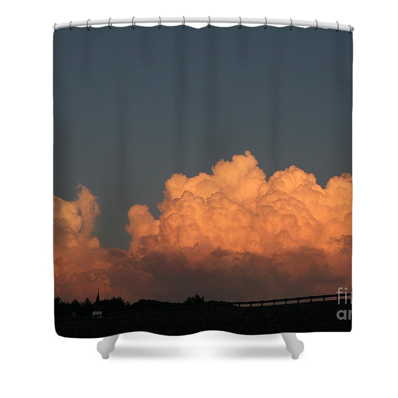 Sunset Shower Curtain featuring the photograph Heavens Gate by Neal Eslinger