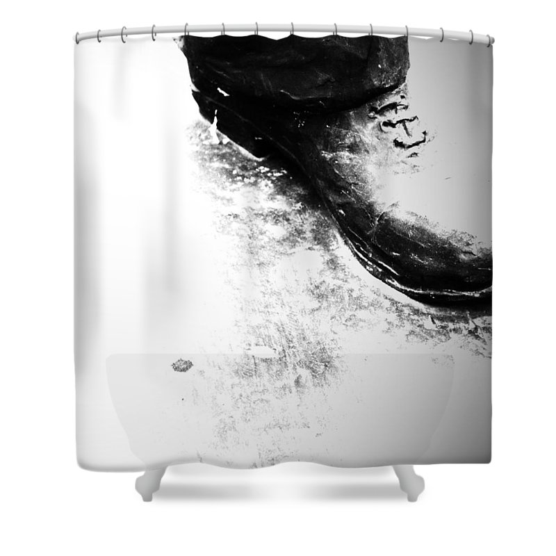 Rural Decay Shower Curtain featuring the photograph Heavy Foot by The Artist Project