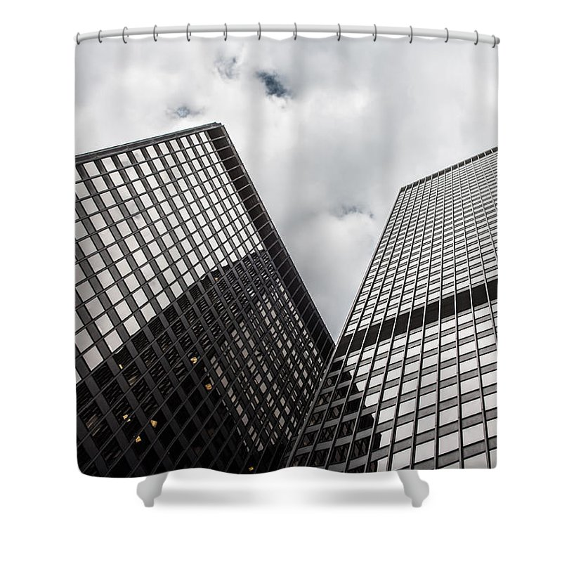 Abstract Shower Curtain featuring the photograph High Rise by Semmick Photo