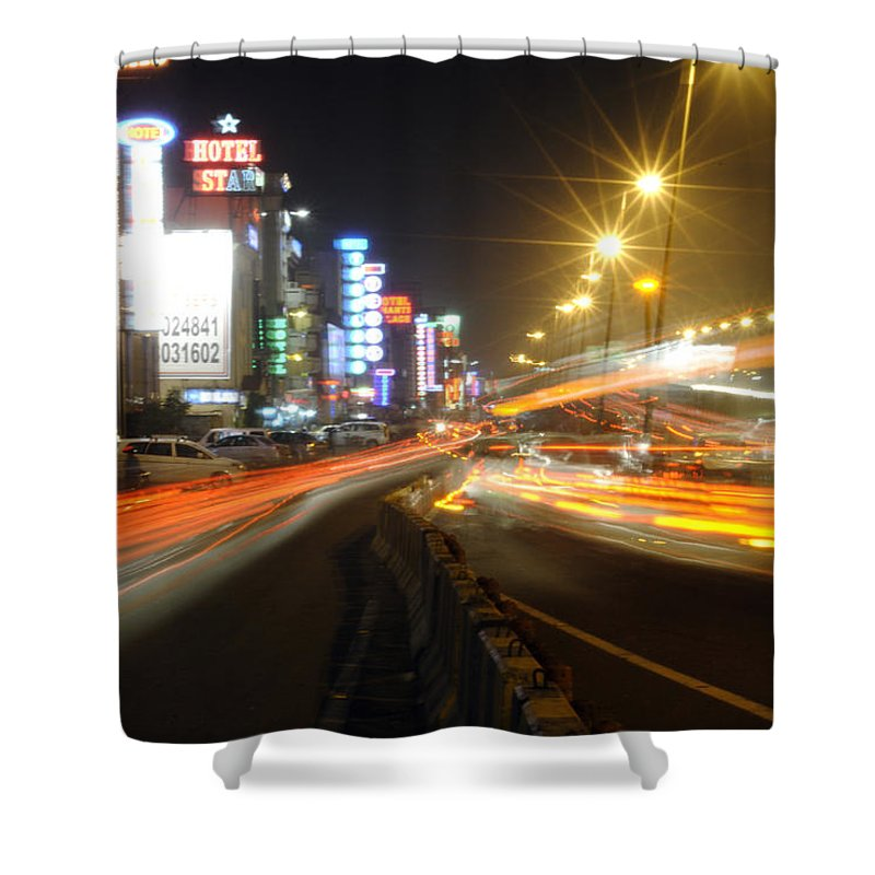 Hotels Shower Curtain featuring the photograph Highway And Hotels by Sumit Mehndiratta