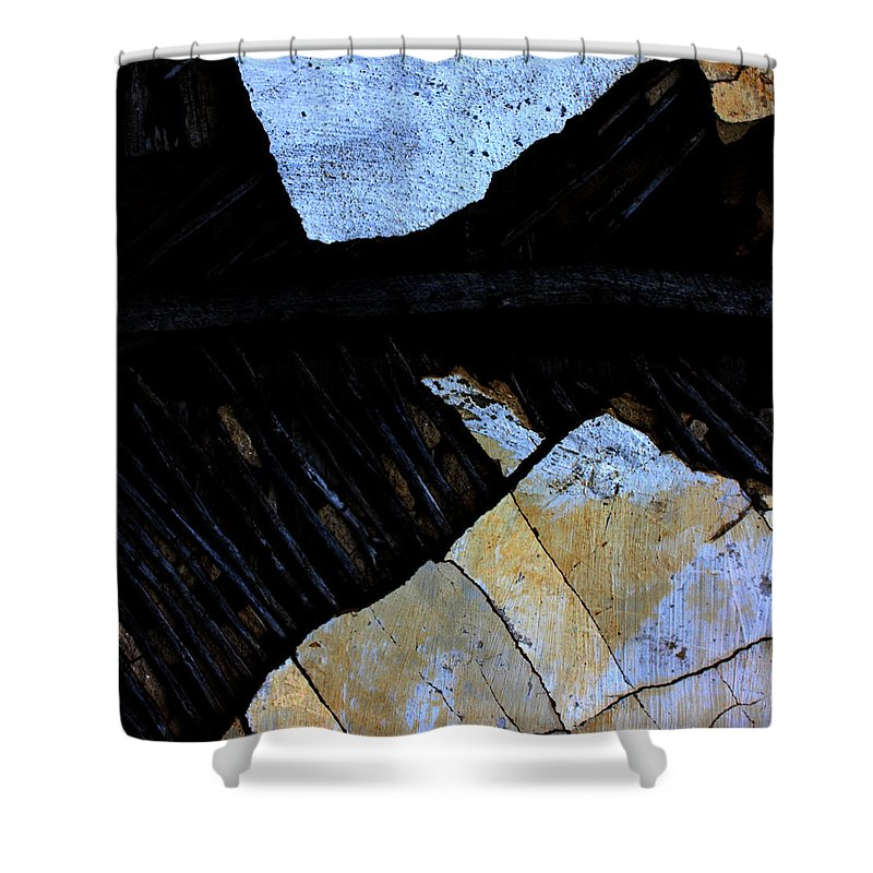 Street Shower Curtain featuring the photograph Hills With Stones by The Artist Project