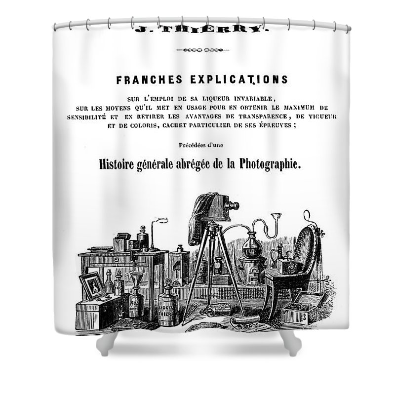 1847 Shower Curtain featuring the photograph History Of Photography, 1847 by Granger