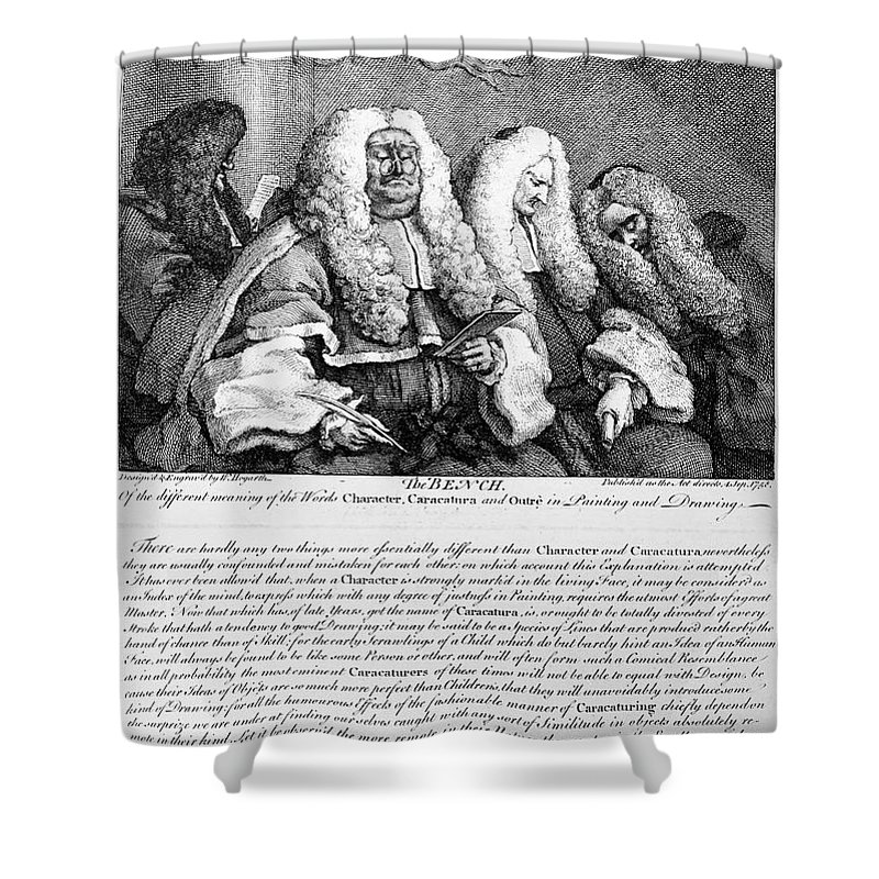 1758 Shower Curtain featuring the photograph Hogarth: Judges, 1758 by Granger