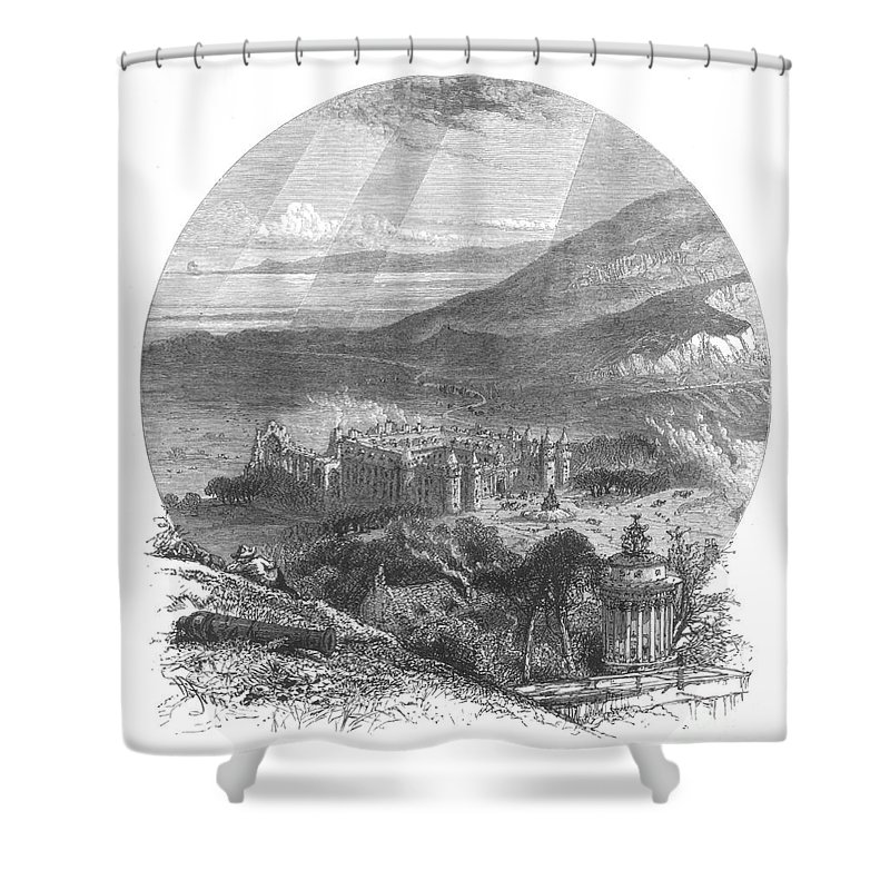 19th Century Shower Curtain featuring the photograph Holyrood Palace by Granger