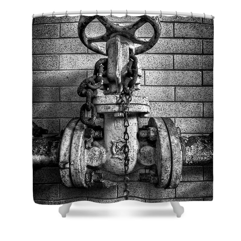 Metal Shower Curtain featuring the photograph Hooked On Metal by Evelina Kremsdorf