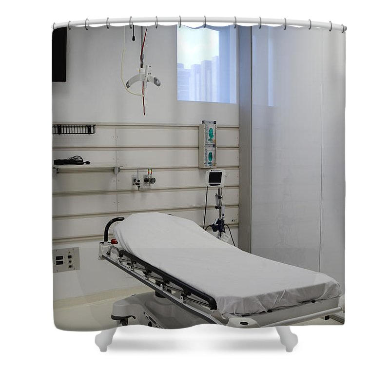 Adjust Shower Curtain featuring the photograph Hospital Gurney by Photo Researchers, Inc.