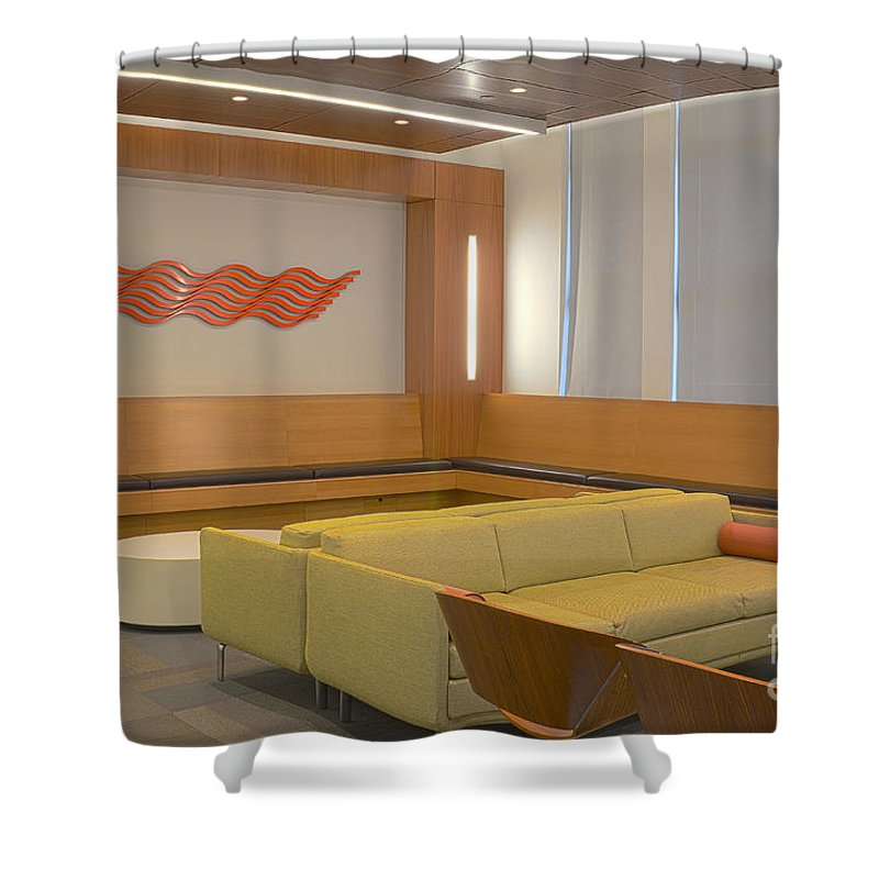Chairs Shower Curtain featuring the photograph Hospital Waiting Room by Photo Researchers, Inc.
