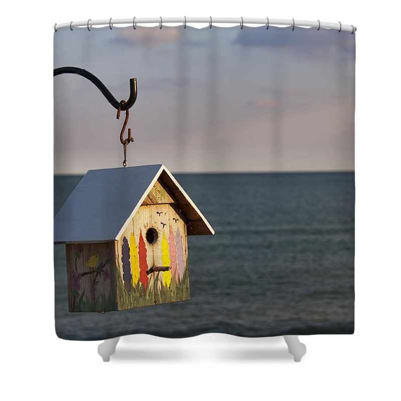 Birdhouse Shower Curtain featuring the photograph House By The Sea by David Arment