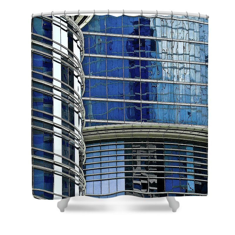 Architecture Shower Curtain featuring the photograph Houston Architecture 1 by Frances Hattier
