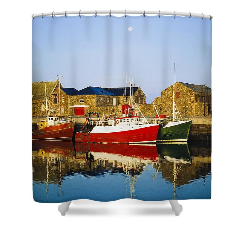 Outdoors Shower Curtain featuring the photograph Howth Harbour, County Dublin, Ireland by The Irish Image Collection