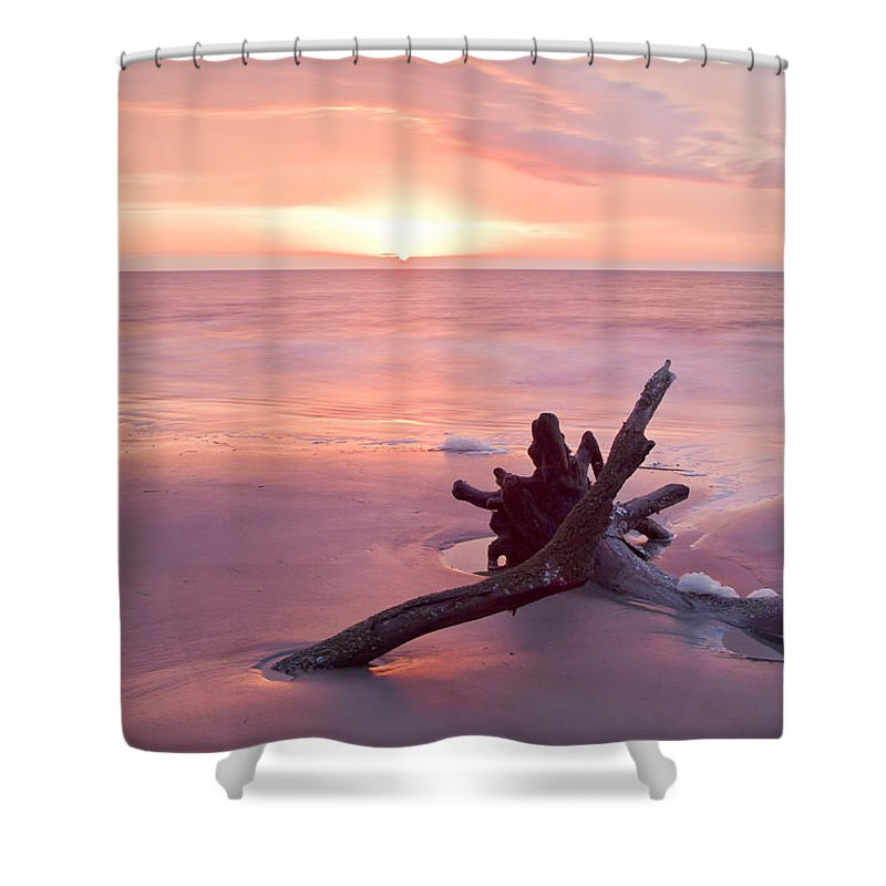 Hunting Island State Park Shower Curtain featuring the photograph Hunting Island South Carolina by Bill Swindaman