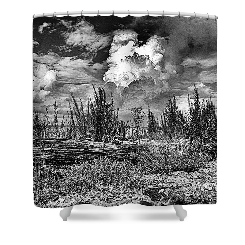 Hurricane Shower Curtain featuring the photograph Hurricane Isaac Clouds by Joshua House