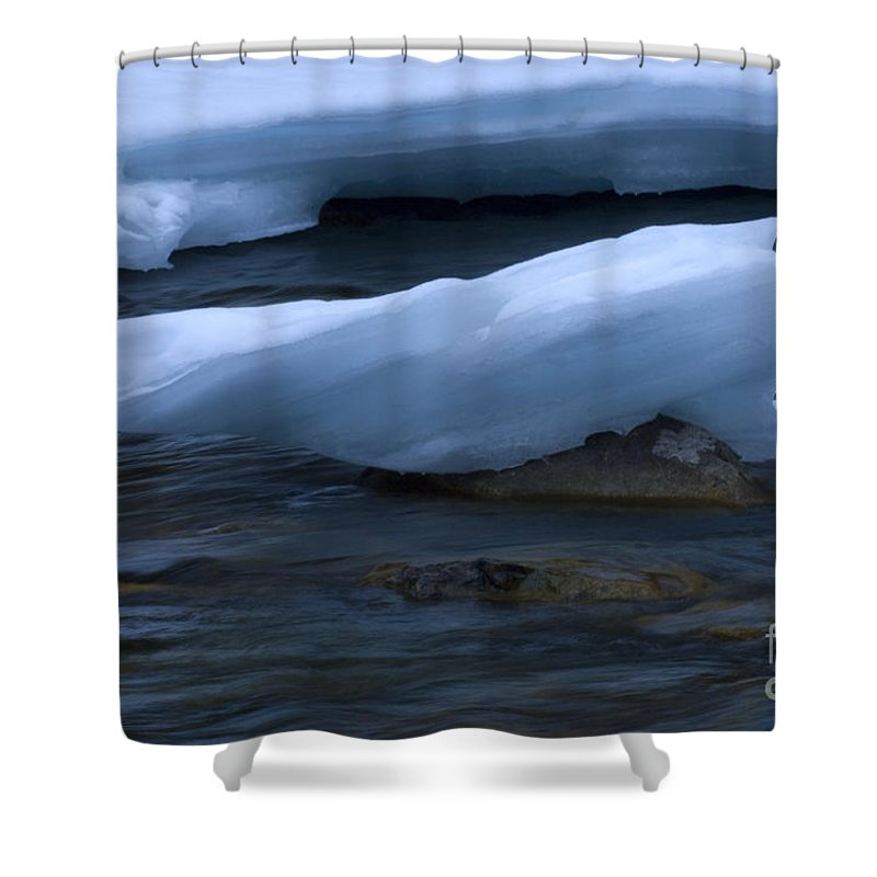 Ice Shower Curtain featuring the photograph Ice 15 by Bob Christopher