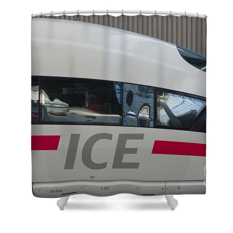 Europe Shower Curtain featuring the photograph Ice Germany by Andrew Michael