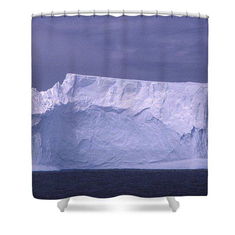 Antarctic Peninsula Shower Curtain featuring the photograph Iceberg Antarctica by Boyd Norton