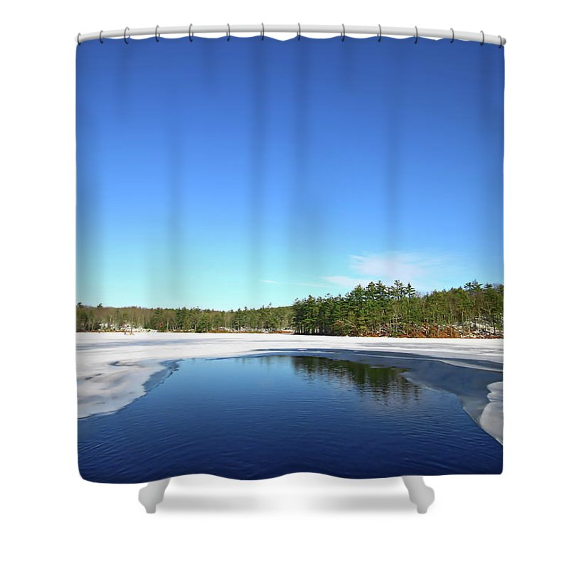 Landscape Shower Curtain featuring the photograph Icing Call by Evelina Kremsdorf