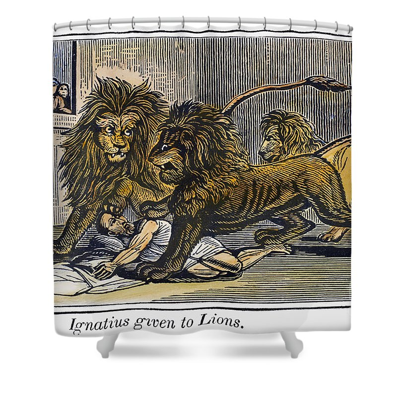 110 Shower Curtain featuring the photograph Ignatius Of Antioch (c35-110) by Granger