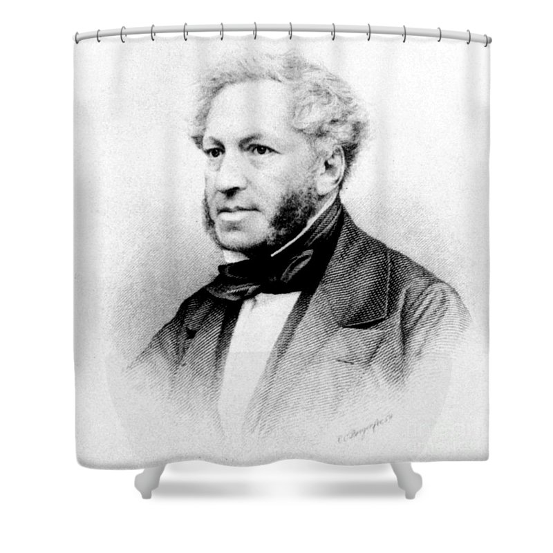 1859 Shower Curtain featuring the photograph Ignaz Moscheles (1794-1870) by Granger