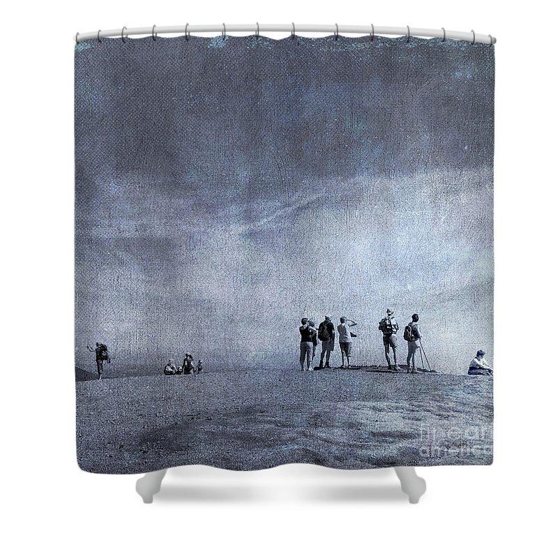 Beaches Shower Curtain featuring the photograph Illustration Of Tourist On Holiday by Bernard Jaubert