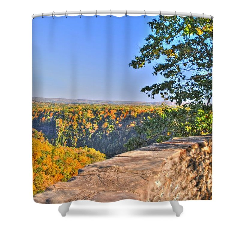 Shower Curtain featuring the photograph In Awe by Michael Frank Jr