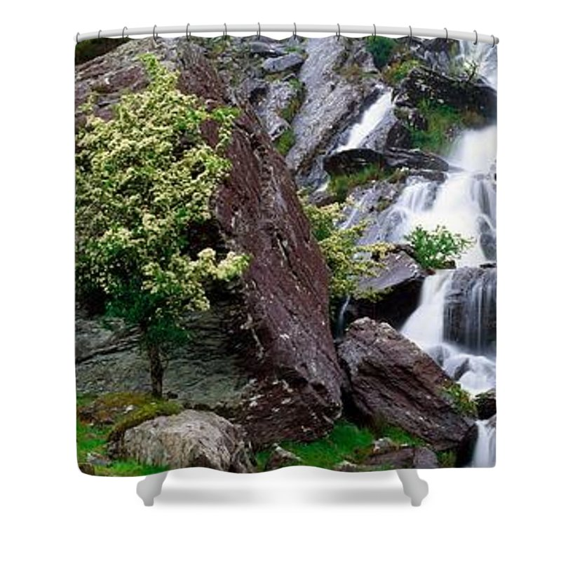 Beara Peninsula Shower Curtain featuring the photograph Inchquinn Waterfall, Beara Peninsula by The Irish Image Collection