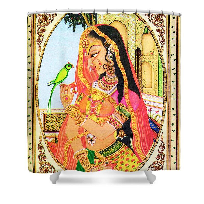 India Shower Curtain featuring the digital art Indian Empress by Sumit Mehndiratta
