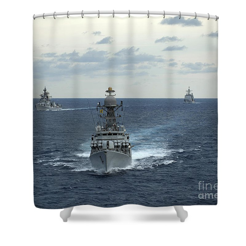 Indian Navy Corvette Ship Ins Kulish Shower Curtain for Sale