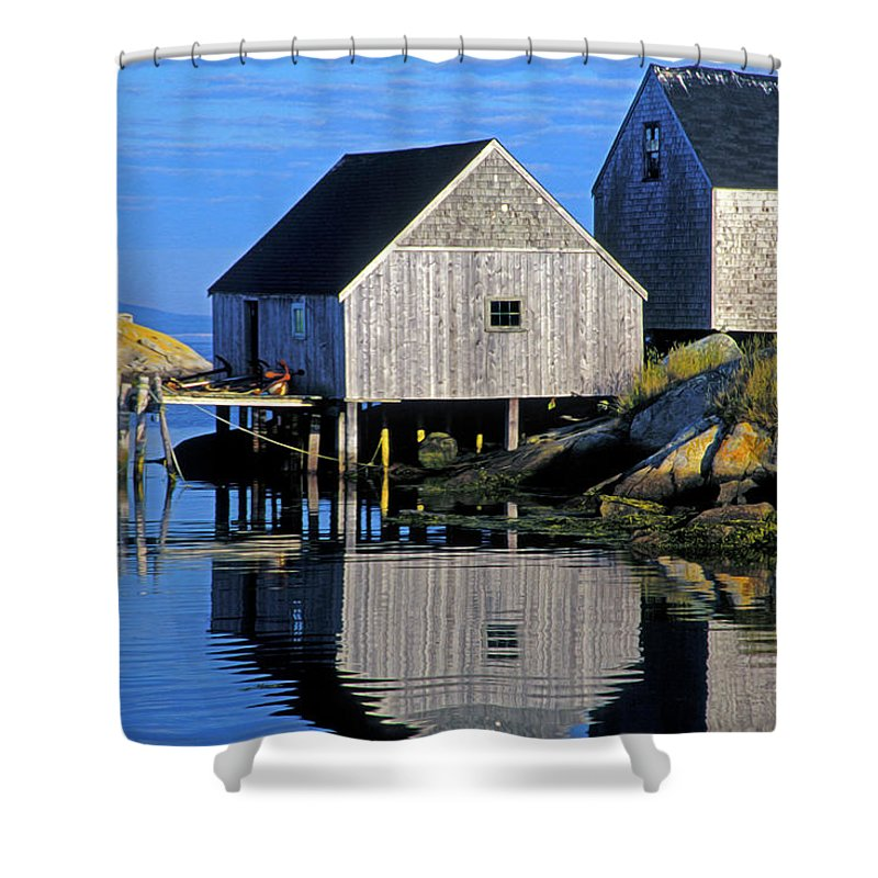 Inlet Shower Curtain featuring the photograph Inlet At Peggys Cove Nova Scotia by Dave Mills