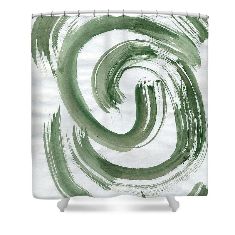 Inner Hurricane Shower Curtain featuring the painting Inner Hurricane by Taylor Webb