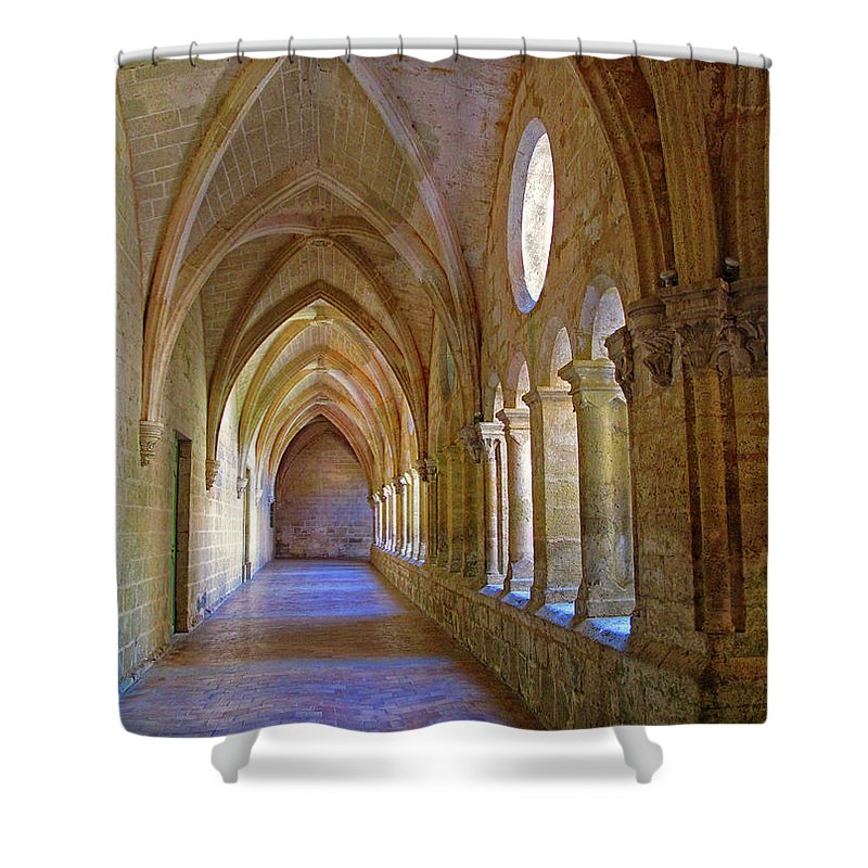 Monastery Shower Curtain featuring the photograph Inside A Monastery by Dave Mills