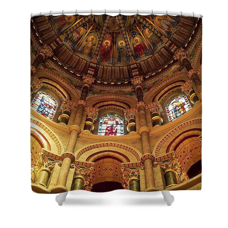 Branch Shower Curtain featuring the photograph Interiors Of A Cathedral, St. Finbarrs by The Irish Image Collection