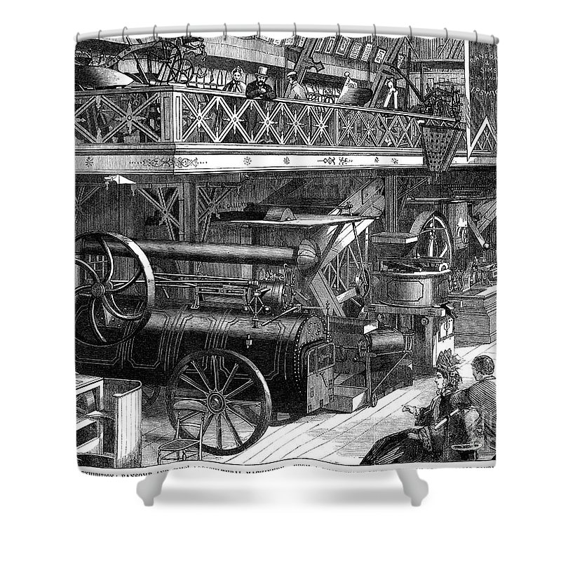 1862 Shower Curtain featuring the photograph International Exhibition by Granger