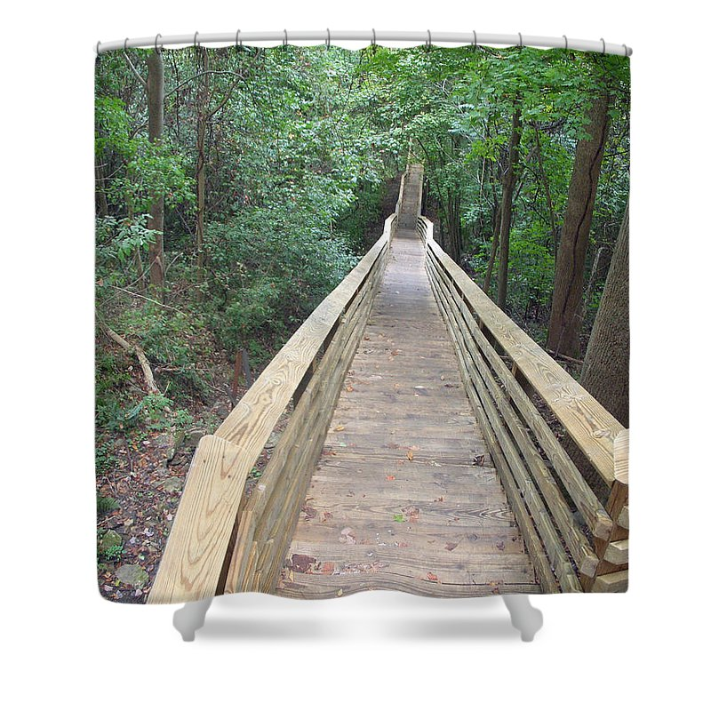 West Virginia Shower Curtain featuring the photograph Into The Woods by Aimee L Maher ALM GALLERY